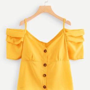 NWOT** SHEIN S Yellow Top